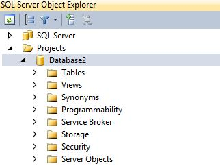 SQL Server Object Explorer window in Visual Studio