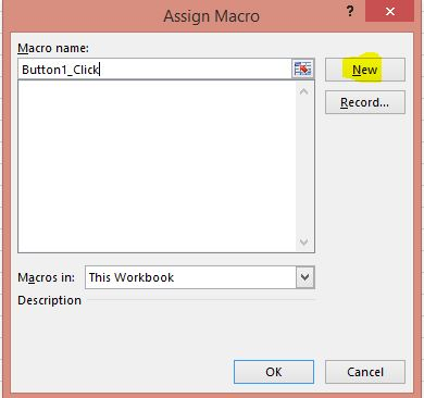 Excel Assign Macro To Button