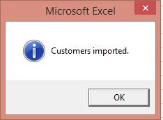 Excel Macro Message Box