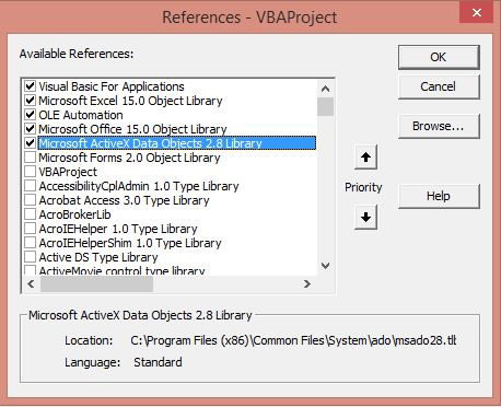 Excel VBA Add Reference