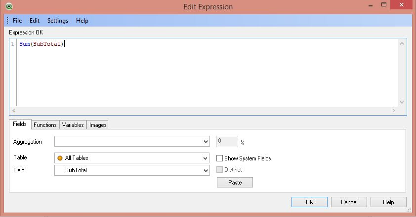 QlikView New Sheet Object Edit Expression