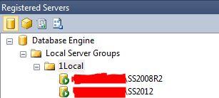Registered Servers