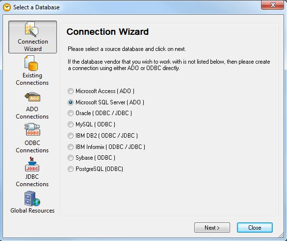 Mapforce Insert Database Connection Wizard