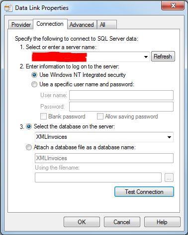 Mapforce Insert Database Data Link Properties