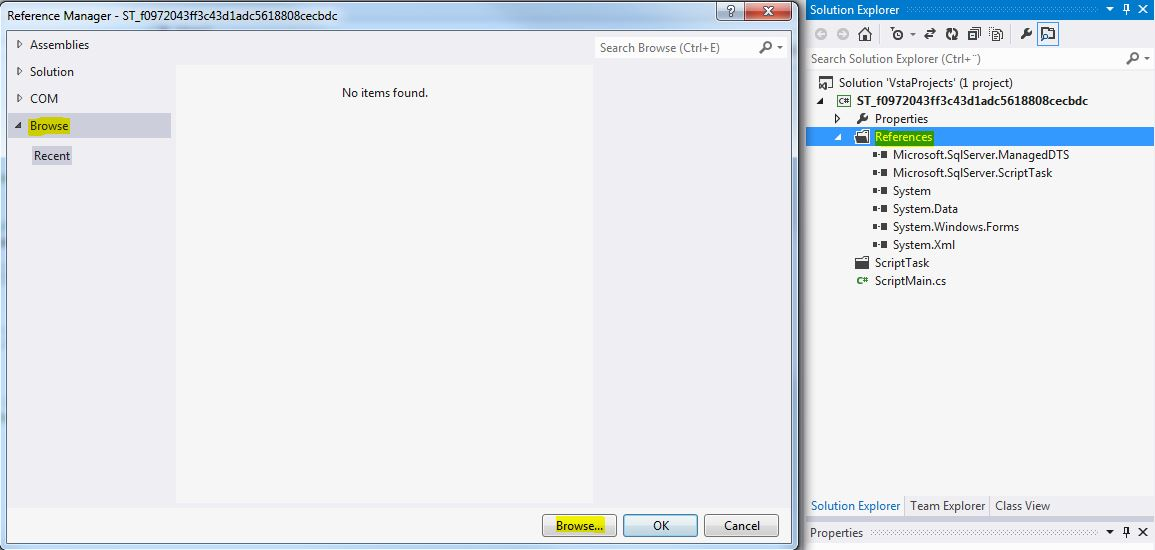SSIS Script Task Add Reference