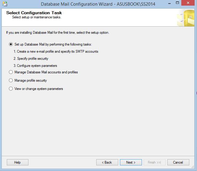Configure Database Mail Set up Database Mail