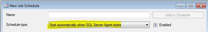 SQL Agent Start When Agent Starts