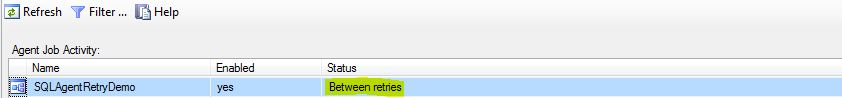 SQL Agent Between Retries