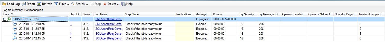 SQL Agent Job History