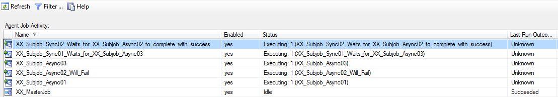 SQL Agent Job Activity Monitor