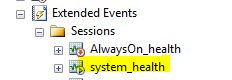 Extended Events System Health Session running